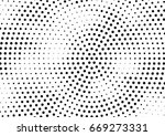 abstract halftone dotted... | Shutterstock .eps vector #669273331