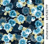 seamless gorgeous pattern in... | Shutterstock .eps vector #669282799