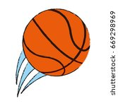 basketball ball icon image  | Shutterstock .eps vector #669298969