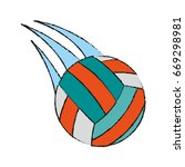 volleyball ball icon image  | Shutterstock .eps vector #669298981
