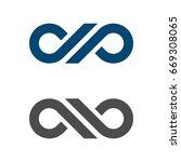 d p letter infinity logo