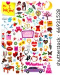 vector love graphics collection | Shutterstock .eps vector #66931528