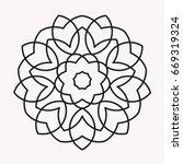 simple mandala shape for... | Shutterstock .eps vector #669319324