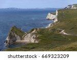 part of the jurassic coast near ...   Shutterstock . vector #669323209