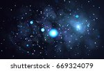 real backlit dust particles... | Shutterstock . vector #669324079