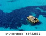 a reef in a tropical blue sea... | Shutterstock . vector #66932881