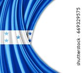 honduras  flag of silk with... | Shutterstock . vector #669329575