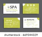 collection of businnes card... | Shutterstock .eps vector #669344329