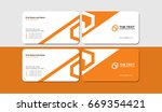the best orange vector business ... | Shutterstock .eps vector #669354421