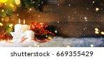 christmas candles | Shutterstock . vector #669355429