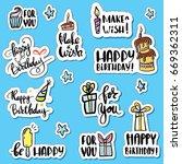 happy birthday holiday paper... | Shutterstock .eps vector #669362311