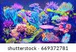 digital illustration of sea... | Shutterstock . vector #669372781