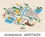 thailand travel concept the... | Shutterstock .eps vector #669374224