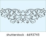 ornament of vector elements... | Shutterstock .eps vector #6693745
