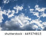 the sky. clouds. | Shutterstock . vector #669374815