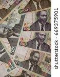 banknotes of kenya of different ... | Shutterstock . vector #669375901