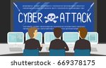 cyber security people... | Shutterstock .eps vector #669378175