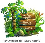 wooden board for text in... | Shutterstock .eps vector #669378847