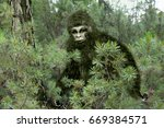 Stock photo bigfoot yeti 669384571