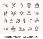 modern christmas icon set | Shutterstock .eps vector #669385327