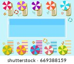 swimming pool  top view.... | Shutterstock .eps vector #669388159