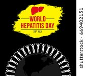world hepatitis day background...   Shutterstock .eps vector #669402151
