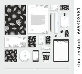 corporate identity  stationery... | Shutterstock .eps vector #669403981