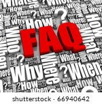 group of faq 3d words. part of... | Shutterstock . vector #66940642