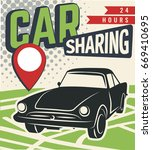 car sharing graphic design. car ... | Shutterstock .eps vector #669410695