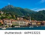 view of the menaggio resort on... | Shutterstock . vector #669413221