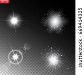 light of the sun  star  white... | Shutterstock .eps vector #669414325