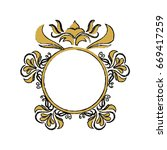 floral frame border decorative... | Shutterstock .eps vector #669417259