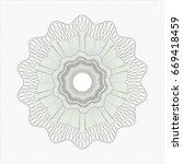 green rosette   Shutterstock .eps vector #669418459