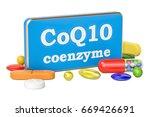 coenzyme q10 concept  3d...   Shutterstock . vector #669426691