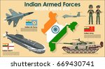 indian armed forces set poster... | Shutterstock .eps vector #669430741
