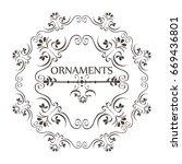 ornamental borders design | Shutterstock .eps vector #669436801