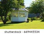 Garden White Pavilion Exterior...