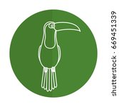 toucan tropical bird icon | Shutterstock .eps vector #669451339