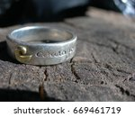Small photo of Ring with Word Courage