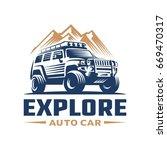 adventure car logo template | Shutterstock .eps vector #669470317