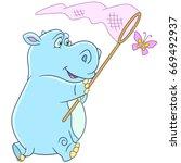 Cartoon Hippo  Hippopotamus ...