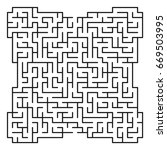 abstract maze   labyrinth with... | Shutterstock .eps vector #669503995