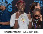 Small photo of Lil Yachty attends the 2017 BET Awards at Microsoft Theater on June 25th, 2017 in Los Angeles, California - USA