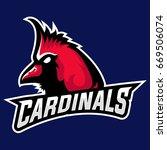 exotic bird cardinal head...
