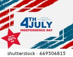 fourth of july  happy... | Shutterstock .eps vector #669506815