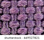 Microscopic Purple Pattern Wool