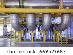 district cooling plant | Shutterstock . vector #669529687