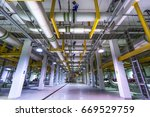 district cooling plant | Shutterstock . vector #669529759