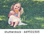 girl with lollipop   young girl ...   Shutterstock . vector #669531505