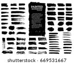painted grunge stripes set.... | Shutterstock .eps vector #669531667